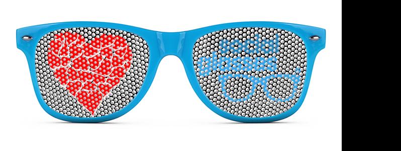 occhiali gadget personalizzati